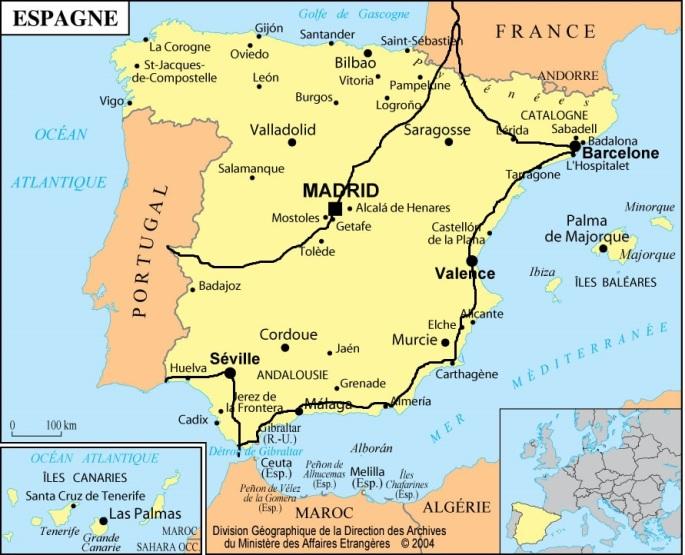 Espagne itinéraire total