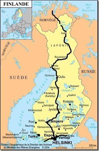 Finlande Itinéraire