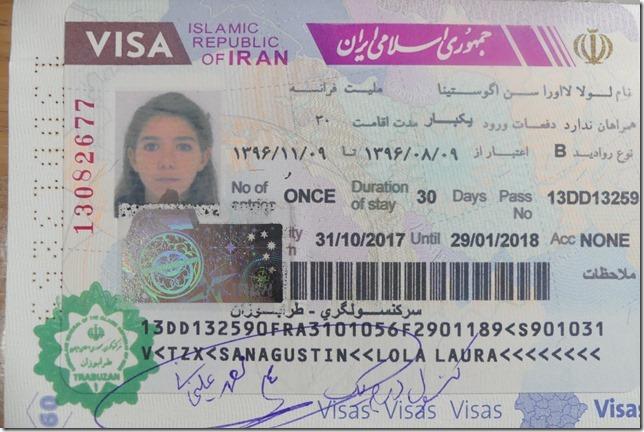 Visas Iran (3)