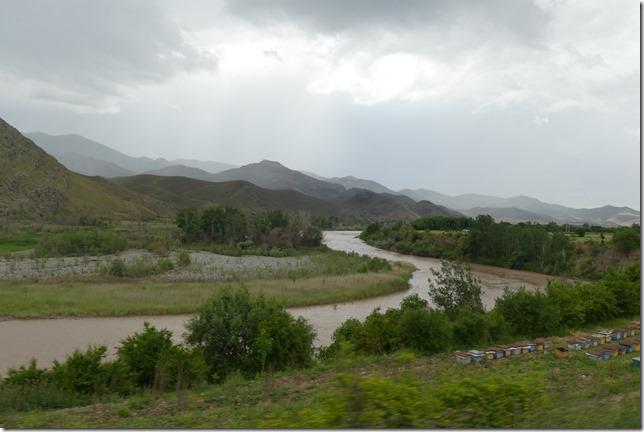 Sur la route - frontière Azerbaïdjan (1)