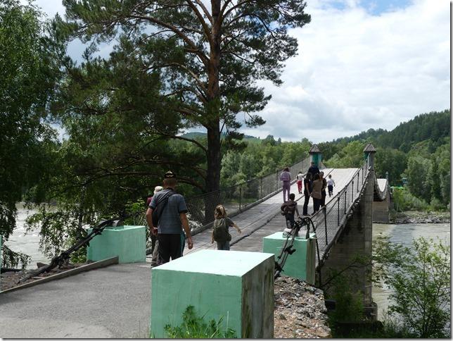 Sur la route - Altaï - Pont suspendu  (1)