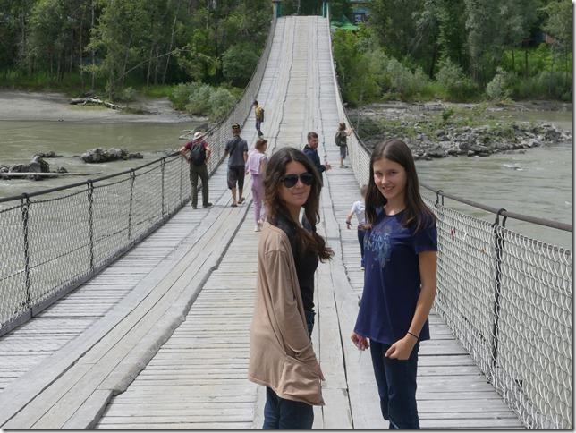 Sur la route - Altaï - Pont suspendu  (5)