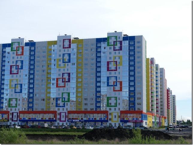 Sur la route - immeubles russes (1)