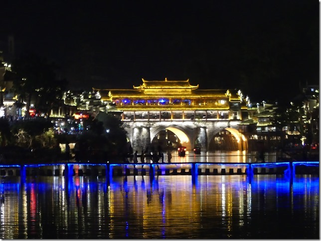 Cité antique de Fenghuang by night (23)