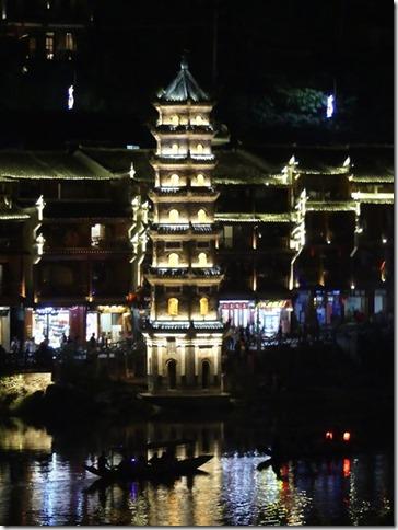 Cité antique de Fenghuang by night (33)