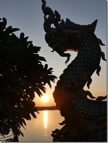 Thakhek - coucher de soleil sur le Mékong (4)