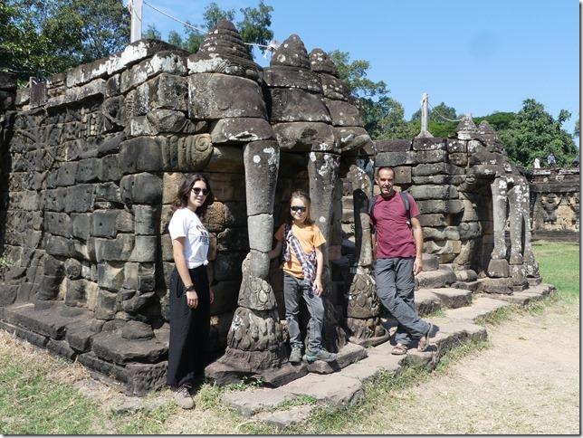 Angkor Tom - Terrasse des éléphants (5)