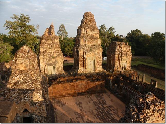 Temples d'Angkor - coucher de soleil au Pre Rup (2)