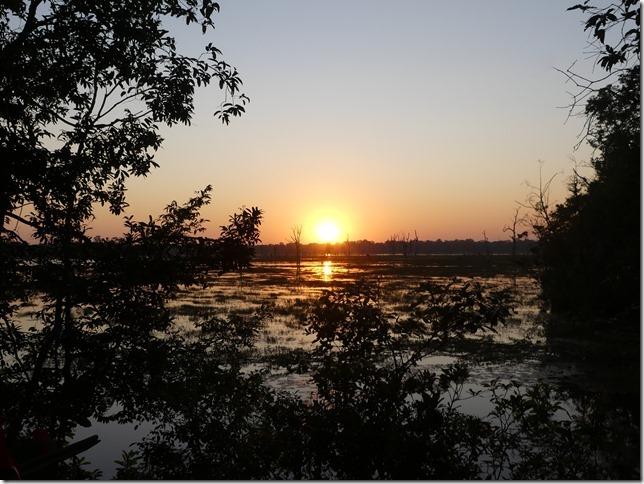 Temples - d'Ankor - Preah Neak Pean - coucher de soleil (1)