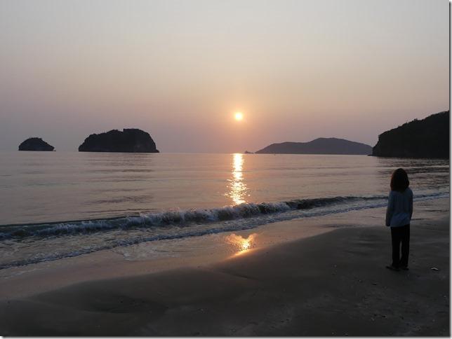 Bivouac plage sud Pran Buri - lever de soleil (11)
