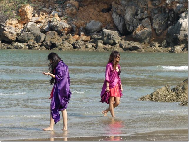 Bivouac plage sud Pran Buri - tournage film indien (32)