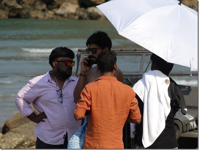 Bivouac plage sud Pran Buri - tournage film indien (36)