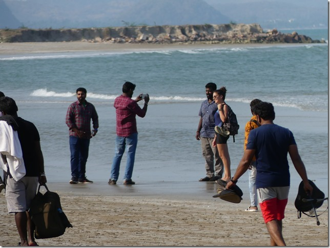 Bivouac plage sud Pran Buri - tournage film indien (41)