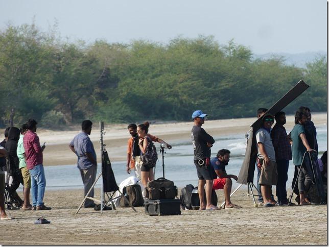 Bivouac plage sud Pran Buri - tournage film indien (45)