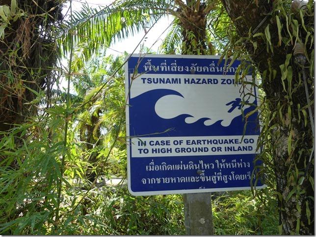 Divers - panneau tsunami