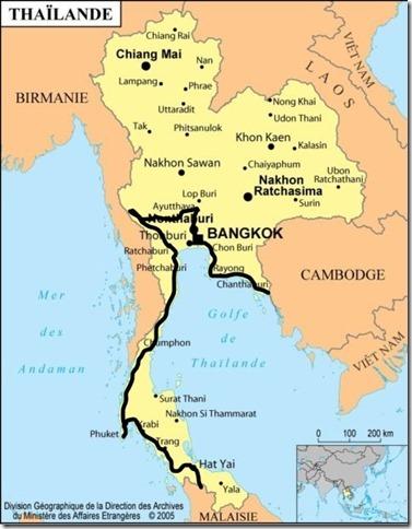 Thaïlande Itinéraire